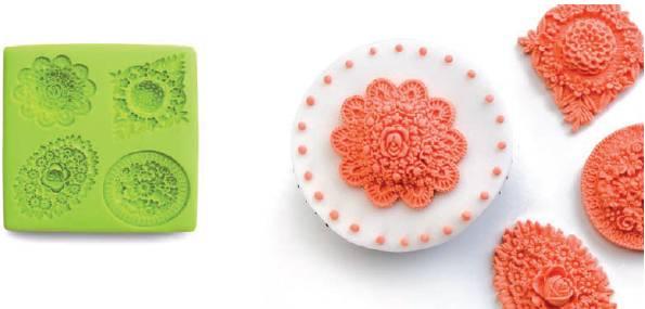 3D forma na pečení, dorty, čokoládu, fondant - květiny Ibili