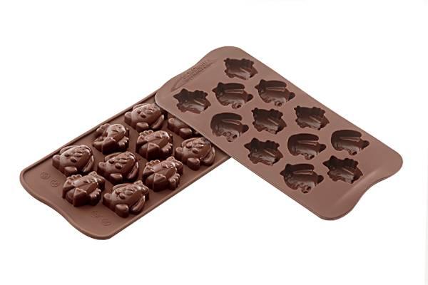 Silikonová forma na čokoládu – velikonoční zvířátka Silikomart