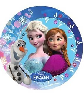 Jedlý papír Elsa, Anna a Olaf - 21cm Florensuc