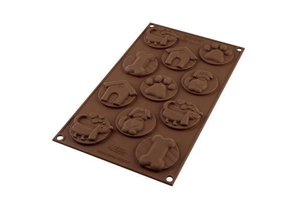 Silikonová forma na čokoládu – psí známky Silikomart