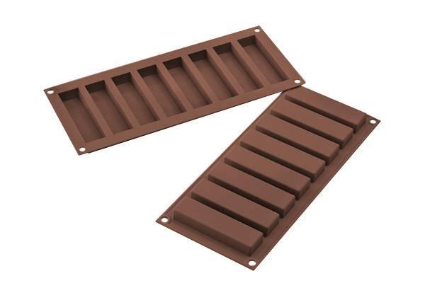 Silikonová forma na domácí čokoládové nebo Müsli tyčinky Silikomart