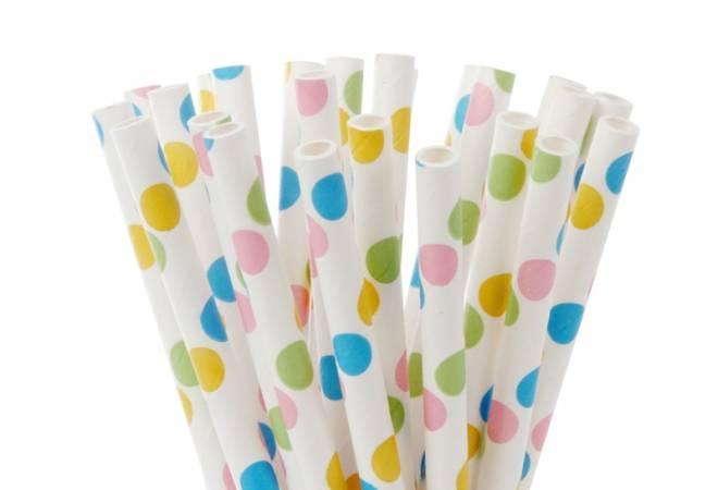 Papírové tyčinky na cake pop puntíkované 20ks 15cm House of Marie