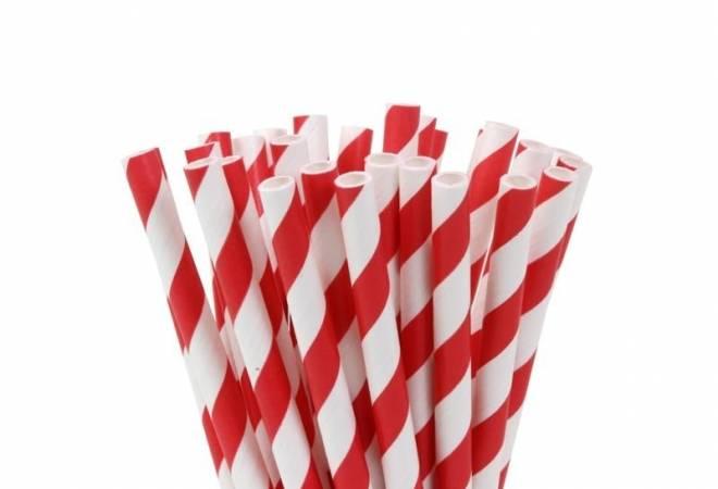 Papírové tyčinky na cake pop červené 20ks 15cm House of Marie