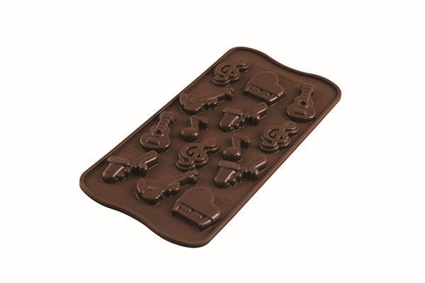 Silikonová forma na čokoládu hudební nástroje Silikomart