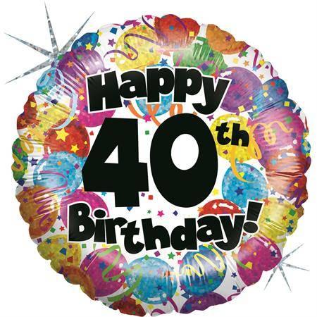 Nafukovací balónek k 40. narozeninám 46cm Grabo