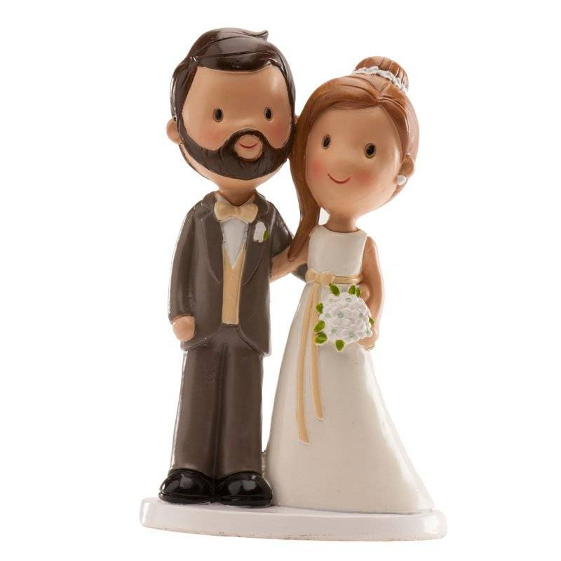 Svatební figurka na dort 14cm novomanželé Dekora