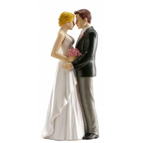 Svatební figurka na dort 16cm opravdová láska Dekora