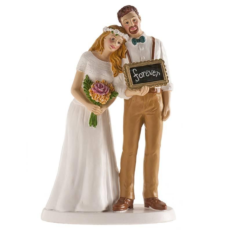 Svatební figurka na dort s nápisem navždy Dekora