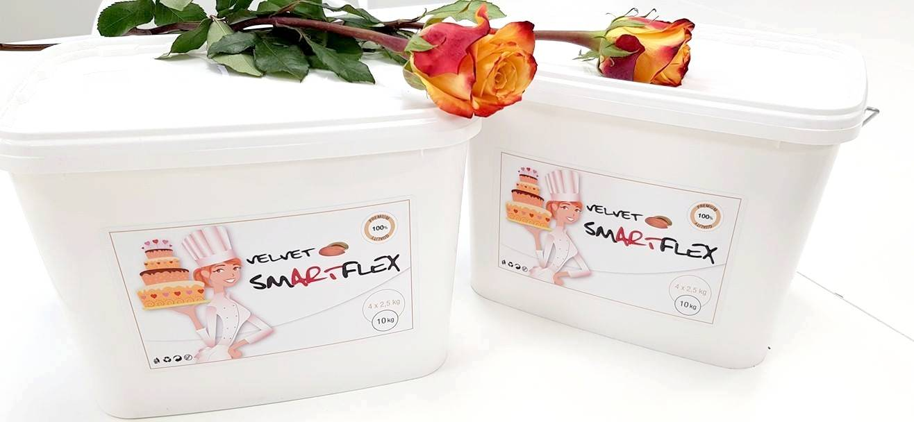 Smartflex Velvet Vanilka 10 kg (Potahovací a modelovací hmota na dorty) 0120 dortis dortis