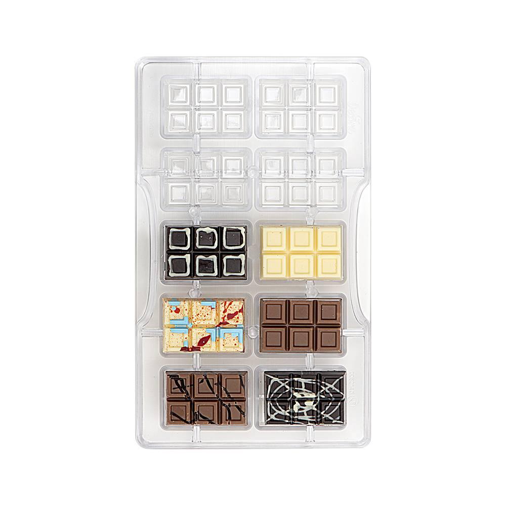 Forma na čokoládu mini tabulka Decora